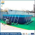 Guanghzou Huale 2017 Hot sale metal frame swimming pool / rectangular metal frame pool for sale