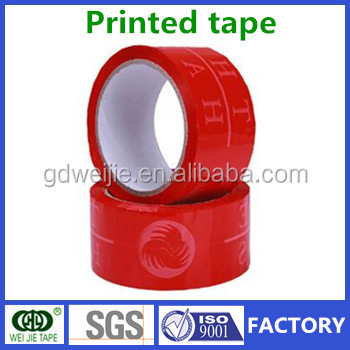red color logo printed strong adhesive custom bopp packing tape