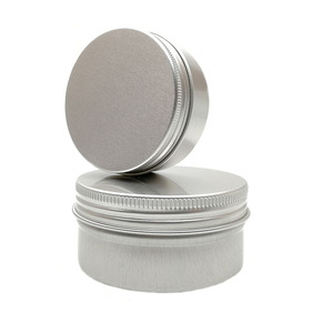 Hot selling 5ml 10ml 15ml 1/2oz 30ml 1oz 60ml 2oz 80ml 100ml 120ml 150ml aluminum Cosmetic tins round candle jar with screw lids