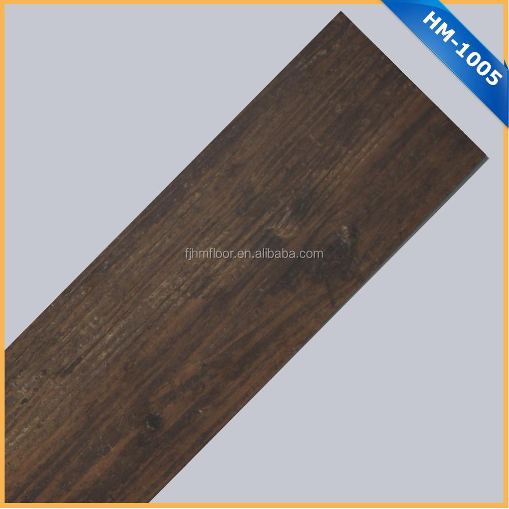 HM-1005 특허 제품 나무 질감 비닐 바닥 pvc 타일-플라스틱 바닥재 ...
