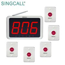 SINGCALL waiter paging system emergency call bell for guest
