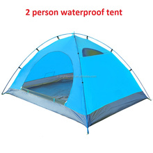 portable Climbing Camping Hiking season use Colorful Waterproof Double Layer 2 Person lovers folding beach Tent