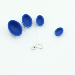 High quality silicone measuring cup spoon foldable colorful portable easy clean measuring bowl