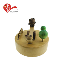 Wooden crafts kits wholesale unfinished diy wooden music box