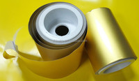 Self Adhesive Golden Aluminum Foil Blank Sticker Paper for printing and label material