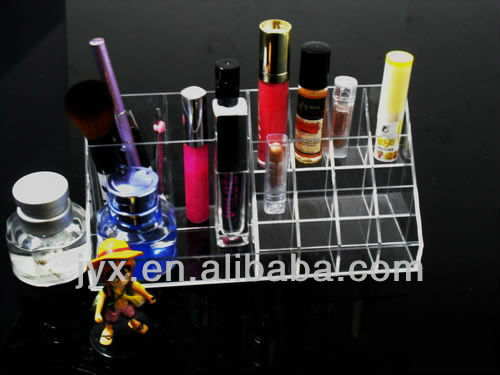 Acrylic Plexiglass Lattice Lipstick Lip glosses liquid eyeliner cosmetic display