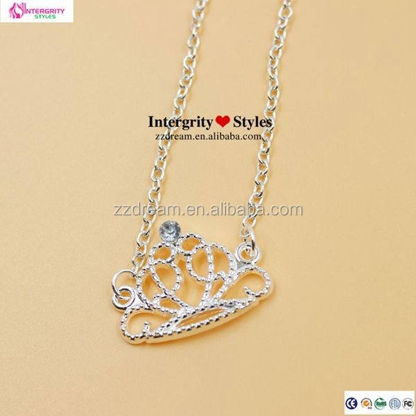 2014 fashion jewelry necklace ,alloy crown necklace jewelry