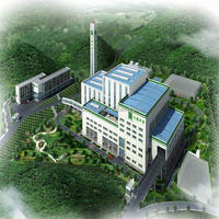1050 tons household waste incinerator to energy power plant