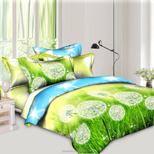 Wholesale 100% Natural Cotton Fabric 40s 128*68 200T printed duvet cover set bed sheet set bedding set in Weifang