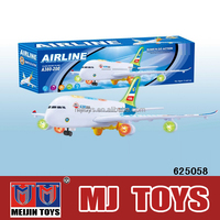 Classic air plane model airbus a380 toys with music and light