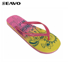 SEAVO SS18 fashion colorful women eva sole summer nude beach sandals flip flops