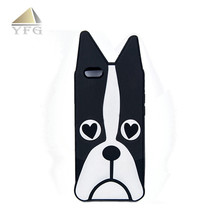 Colorful lovely dog logo silicone waterproof cell phone case
