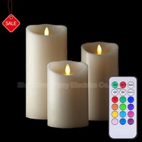Paraffin Wax Material and Flameless Feature moving wick flameless led candle