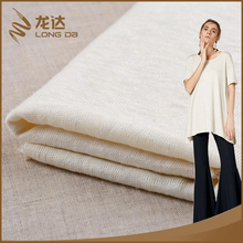 Longda New trendy breathable beige 100% linen power knitted fabric