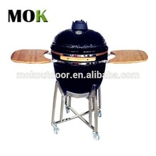 Round shaped portable bbq ceramic kamado charcoal barbecue grill for sale