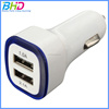 Colorful Mini Car Charger USB 2 Port Cigarette 2.1A Chargers Micro Dual USB Adapter for iphone mobile