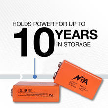 High quality 9v dry cell battery ER9V lithium battery widely used for meters!