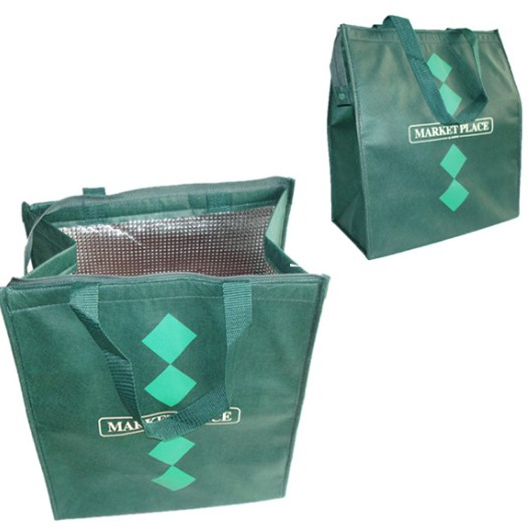 Green ECO Customized design Wine Carrier Travel Cooler Bag, thermos cool lunch bags