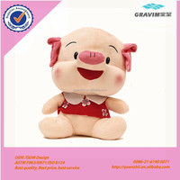 Lovely humanoid lady pig plush toys with child