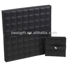 Faux Leather Black placemats and coasters Set