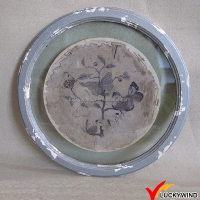 Antique Round Wooden Picture Frame