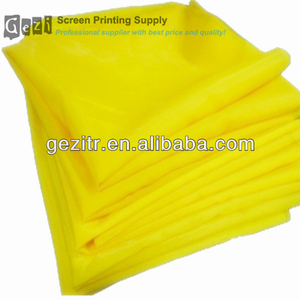 Gezi ( factory offer) 7T- 165T 18mesh-420mesh white or yellow plain weave screen printing distributors