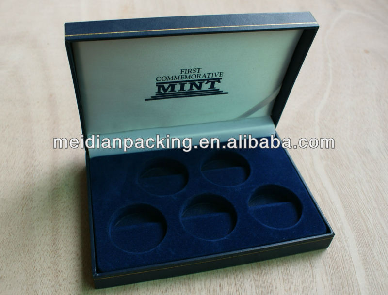 Long large size plastic commemorative mint coin box