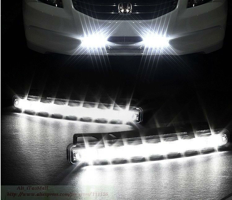 8 X 1W Daytime Running Light Super Bright LED DRL,daytime running light for crv 2012