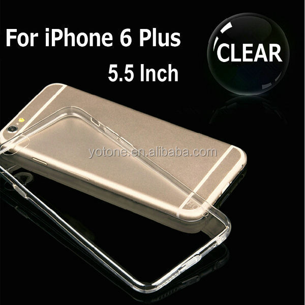 Ultra-thin for iphone 6 clear case 4.7 / gel transparent 5.5 inch TPU cell phone case /bulk cheap Mobile TPU case for Iphone 6s