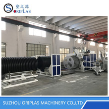 Winding spiral pipe and inner reinforced spiral pipe production line