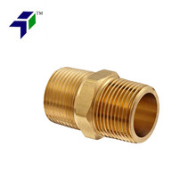 Brass Fitting Hex Nipple 1 NPT Male pipe nipple threading machine