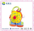 Early Educational Toy Plush Colorful Alarm Clock Toy Baby Plush Toy