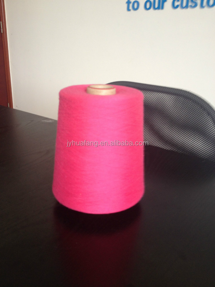 Ne32/1 cotton/polyester ring spun blended yarn , dope dyed, for circular knitting