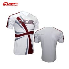 High quality Sublimated Tee Shirts , Small MOQ, any color logos printed
