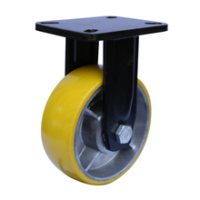 Rigid swivel plate custom polyurethane 2 ton heavy duty caster wheels