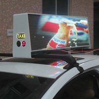 RGB video wireless taxi/car/taxicab led top light display