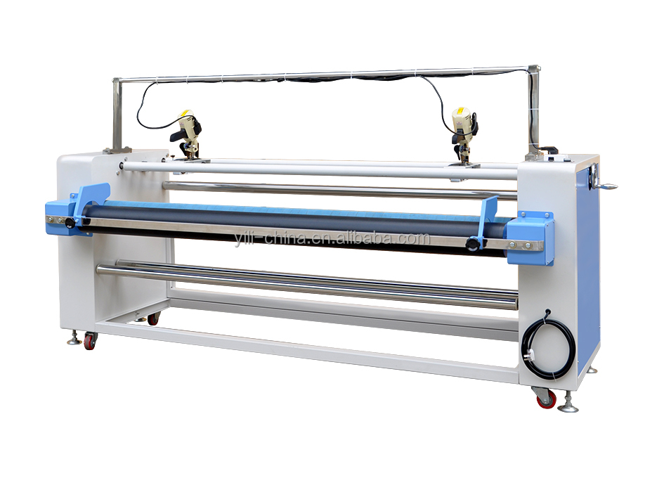 Seimi-Automatic fabric rolling and cutting machine, fabric winding machine with cutter