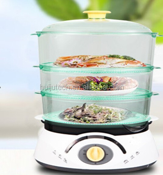 plastic electric food steamer/electric rice cookers with steamer