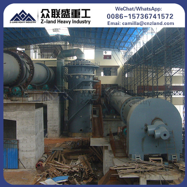 China widely used zinc oxide cement metal rotary kiln for activated carbon manufacturer