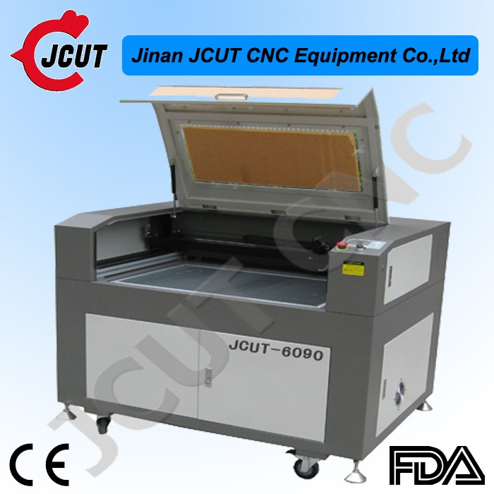 6090 Jcut laser engraving machine for wood,crystal, plastic, paper, leather, rubber,glass engraver