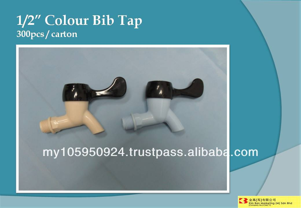 "1/2"" Colour Bib Tap"