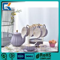 Wholesale beautiful design ceramic Chinese tea cup sets tea pot