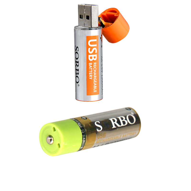 SORBO Lithium USB 1.5V Rechargeable Battery