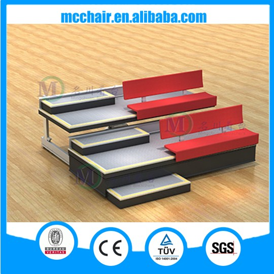 With Comet Fabric Seat telescopic retractable folding bleachers basketball