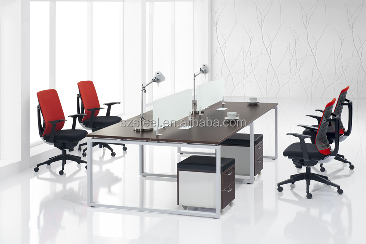 China made Face To Face Office Workstation Partition Desk With wooden MDF Frame Table