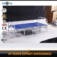 Factory price wholesale army queen size folding bed/metal single bed frame