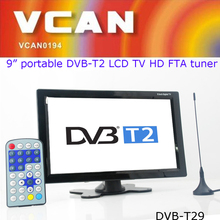 DVB-T29 9 inch digital set top box dvb-t2 LCD TV monitor HD FTA digital TV receiver decoder tuner with antenna