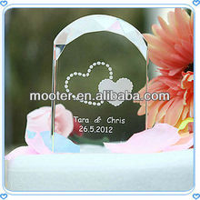 Arch Etched Crystal Wedding Cake Toppers For Cake Accessories