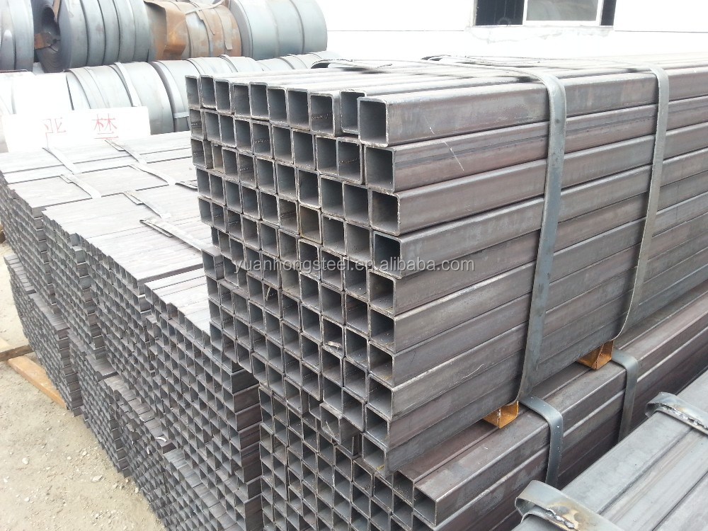 astm a500/en10219 q235 mild carbon steel profile galvanized square hollow section iron pipe