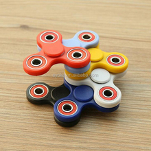 Promotional anti stress fidget toy with different colors tri fidget spinner toy